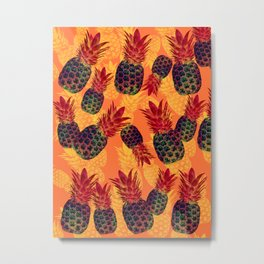 Pineapple Carnival Metal Print