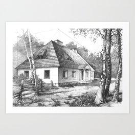 Traditional Polish Mansion Art Print