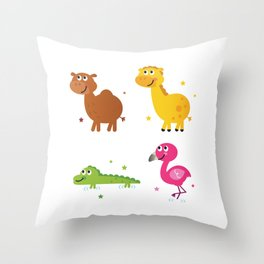 New africa animals Kids toy Edition Throw Pillow