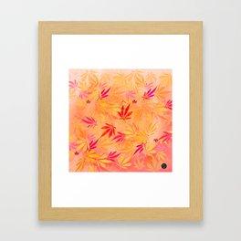 Citrus Cannabis Swirl Framed Art Print