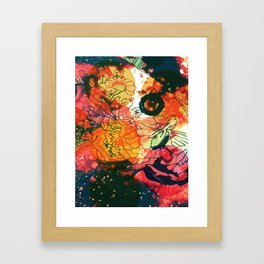 Vintage Pop Abstract Chinese Pattern Framed Art Print