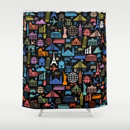 LET'S TRAVEL AROUND THE WORLD!!! Shower Curtain