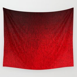 Ruby Red Ombré Design Wall Tapestry