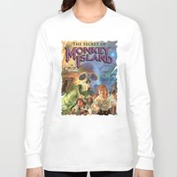 monkey island Long Sleeve T-shirts featuring Monkey Island by idaspark