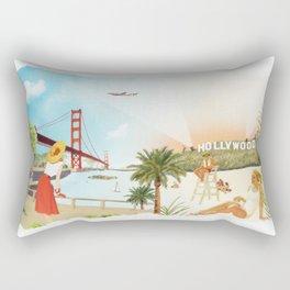 San Francisco + Los Angeles Rectangular Pillow