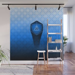 D20 All I Do Is Crit!  Blue Ombre Wall Mural