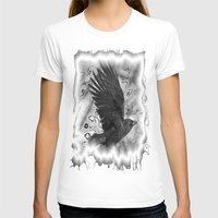 crow T-shirts featuring crow by Vector Art