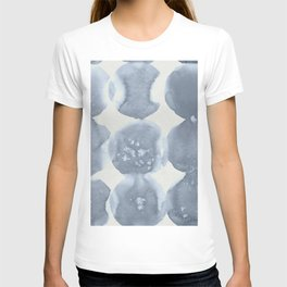Shibori Wabi Sabi Indigo Blue on Lunar Gray T-shirt
