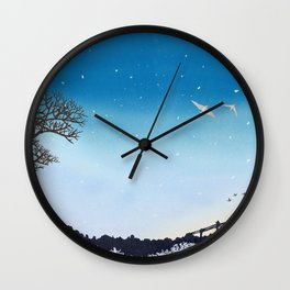On Their Way Home | Miharu Shirahata Wall Clock