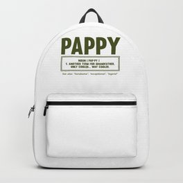 Pappy Gifts Grandfather Gift Pappy Definition Grandpa Gifts Backpack