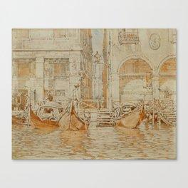 CALAME, ARTHUR 1843 Geneva 1919 Venedig. Canvas Print