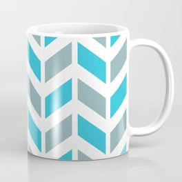 Blue, gray and white chevron pattern Coffee Mug