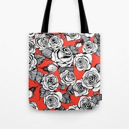 White roses pattern Tote Bag