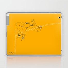 Fosbury jump Laptop & iPad Skin