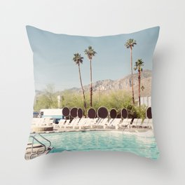 MORNING POOLSIDE Throw Pillow