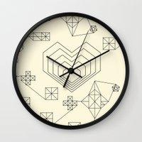 valentine Wall Clocks featuring Valentine by Leandro Pita