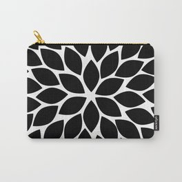 Black & White Chrysanthemum Carry-All Pouch
