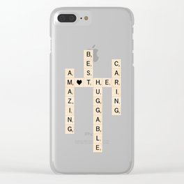 MOTHER's Day Scrabble Art Gift Clear iPhone Case