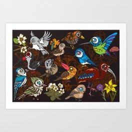 CA 12 BIRDS (CA鳥風月) Art Print
