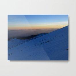 A Mt. Shasta Sunset at 10,000 ft. Metal Print