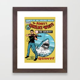 The Amity Great White Framed Art Print