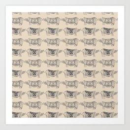 Rhino Lines Art Print