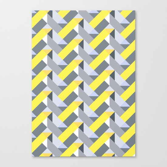 Herringbone geometric yellow Canvas Print
