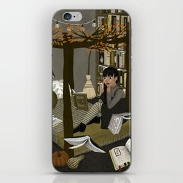 floating books ii iPhone Skin