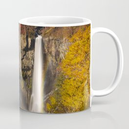 Kegon Falls near Nikko, Japan in autumn Coffee Mug