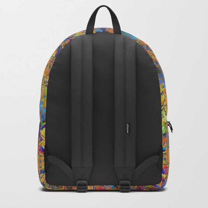 Grunge ethnic pattern.2 Backpack