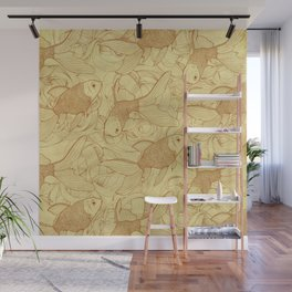 Vintage Goldfishes II Wall Mural