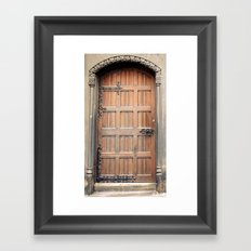 Church door Framed Art Print