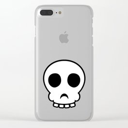 Goofy skull Clear iPhone Case