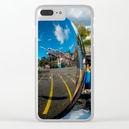 Train Station in the Side View Clear iPhone Case