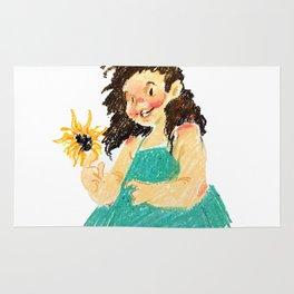 Sunflower Girl Rug