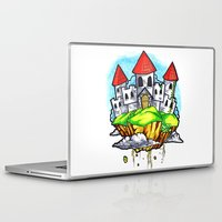 castle in the sky Laptop & iPad Skins featuring Castle In The Sky by Factory Three