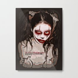 Blood Bubbles The Clown  Metal Print