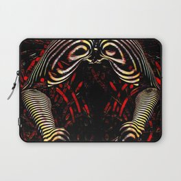 8744-KMA Rear View Feet Legs Thighs Vulva Abstracted Zebra Woman Maher Laptop Sleeve
