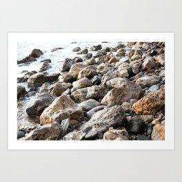 Palos Verdes Pebbles  Art Print