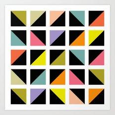 Triangle box pattern Art Print