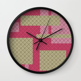 Patchwork 1 Wall Clock