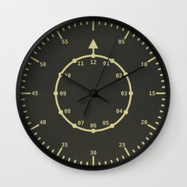 "Flieger ""B"" Style Clock Face (Mustard) Wall Clock"