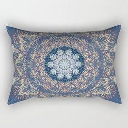 Blue's Golden Mandala Rectangular Pillow