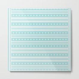 Baby Blue Plus Stitch Pattern Metal Print