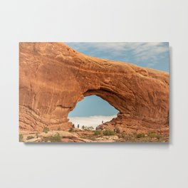 Pine Tree Arch in Arches National Park Metal Print