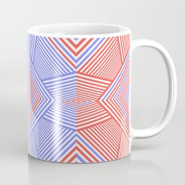 Colorful Blue And Red Geometric Shape Pattern Coffee Mug
