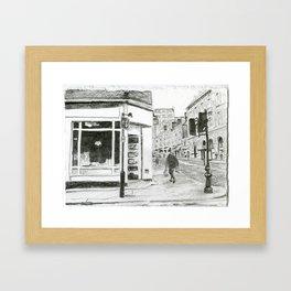 Walking in Kensington Framed Art Print