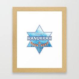 Hanukkah Candles tonight Framed Art Print