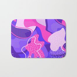 Mint and Lavender Abstracts Collection, Pattern 4 Bath Mat
