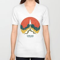 universe V-neck T-shirts featuring Come See The Universe by Picomodi